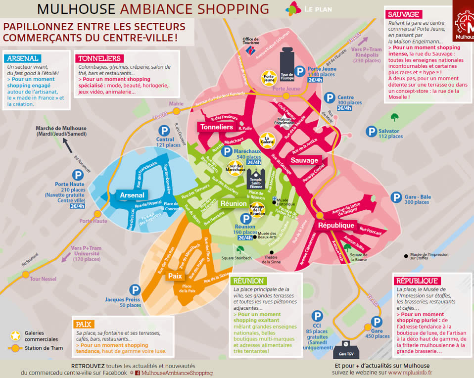 Plan Mulhouse shopping