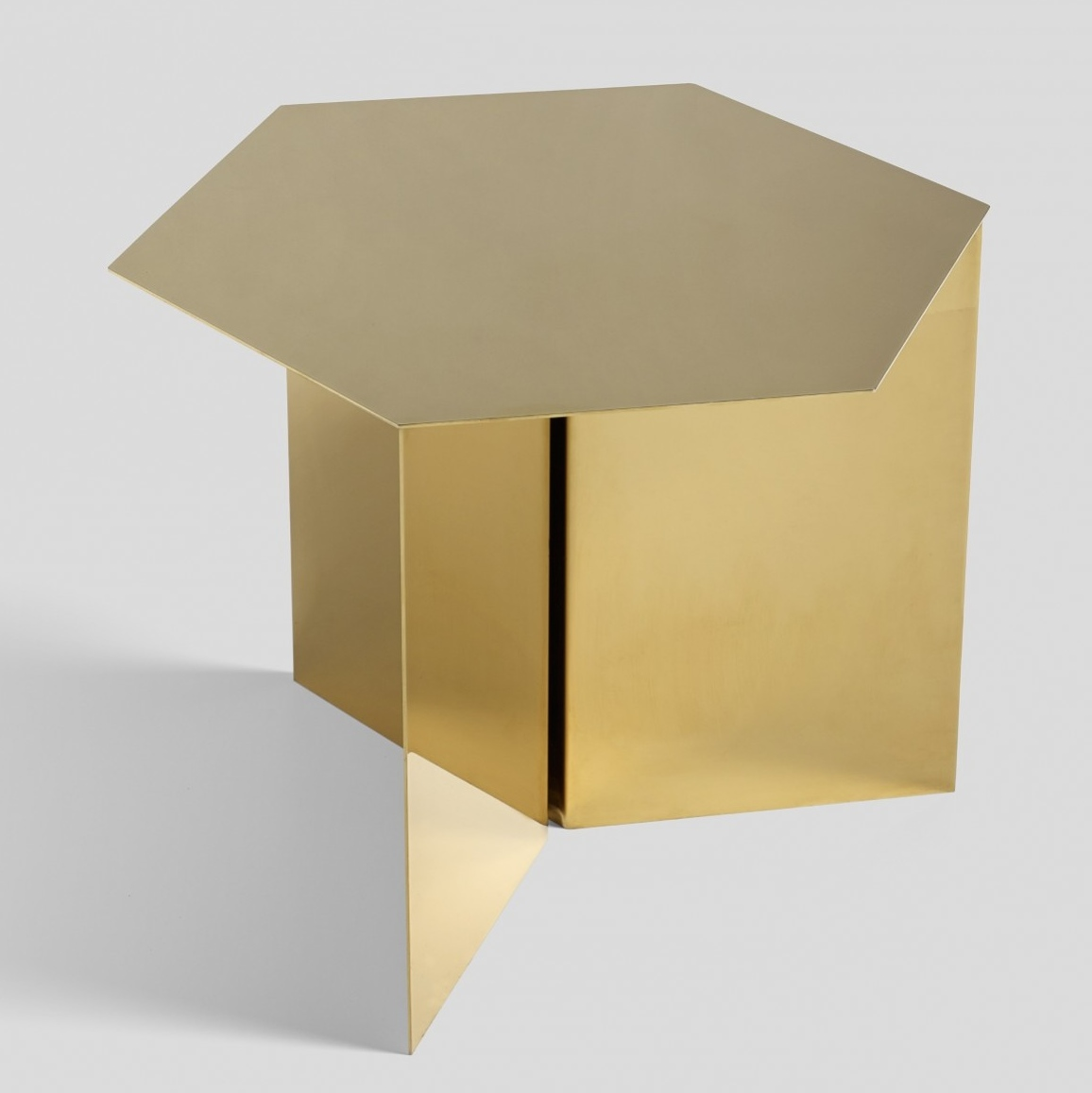 table basse hay slit hexagonale laiton. Black Bedroom Furniture Sets. Home Design Ideas