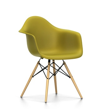 Chaise vitra daw moutarde for Chaise eames jaune moutarde
