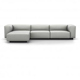 Soft Modular Sofa 3 places avec chaise longue