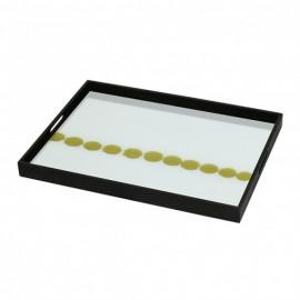 Plateau Mist Gold Organic rectangulaire