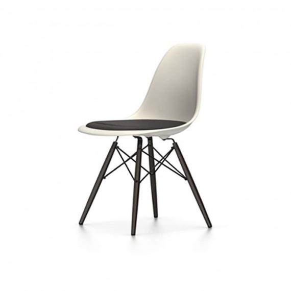 Vitra Chaise Eames DSW - rembourrage de l'assise pieds érable noir