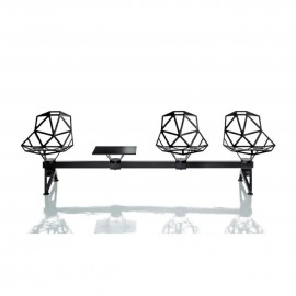 Chair One Système 2 fonte d'aluminium noir