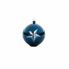 Boule de Noël Blue Christmas étoile