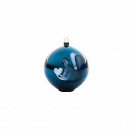 Boule de Noël Blue Christmas ange