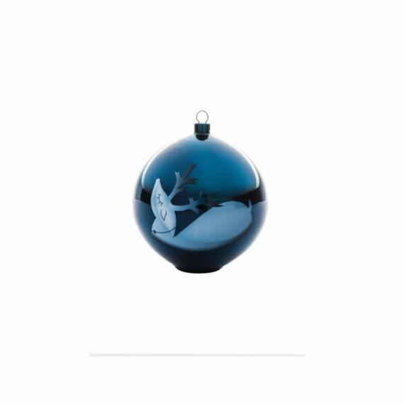 Alessi Boule de Noël Blue Christmas renne