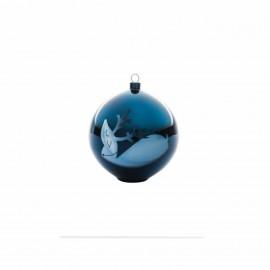 Boule de Noël Blue Christmas renne Alessi