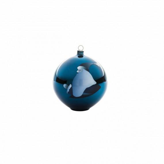 Alessi Boule de Noël Blue Christmas père Noël