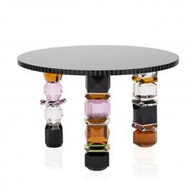 Table basse Orlando noir, rose, ambre et gris