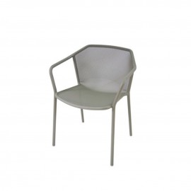 FAUTEUIL EMPILABLE DARWIN GRIS
