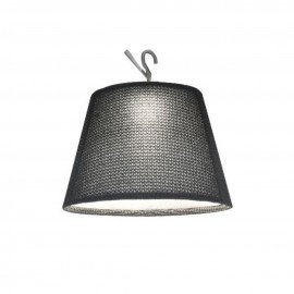 Tolomeo Paralume Crochet Outdoor Trace noir