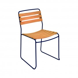 Chaise SURPRISING - teck / abysse