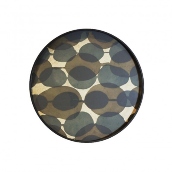 Notre monde PLATEAU CONNECTED DOTS glass tray-RO/S