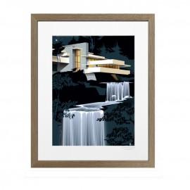 Fallingwater house bois
