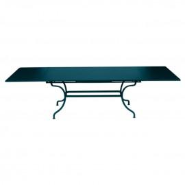 Table à rallonges ROMANE - bleu acapulco Fermob