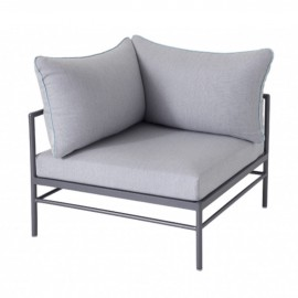 Chauffeuse d'angle RIVAGE - anthracite / gris argent