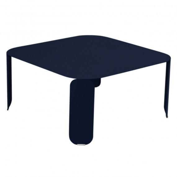 Fermob Table basse carrée BEBOP - bleu abysse