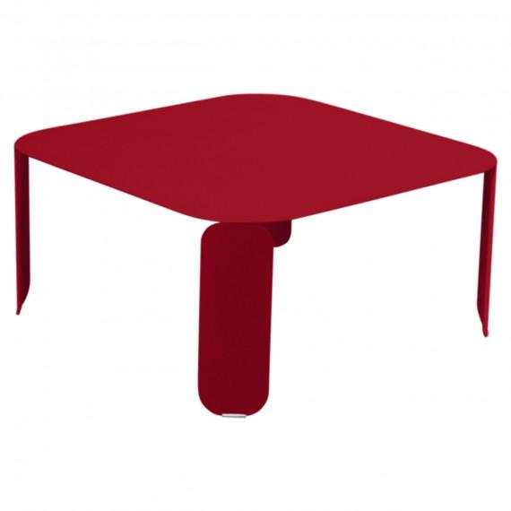 Fermob Table basse carrée BEBOP - coquelicot