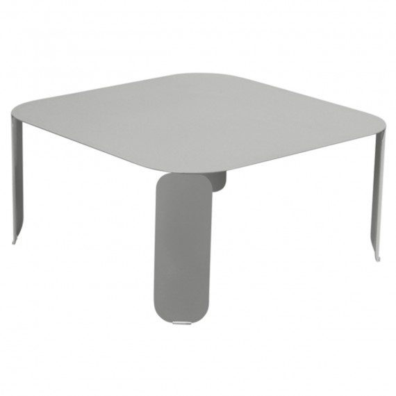 Fermob Table basse carrée BEBOP - gris métal
