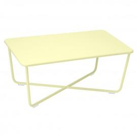 Table basse rectangulaire CROISETTE - citron givré