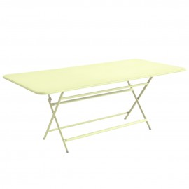 Table rectangulaire CARACTÈRE - citron givré