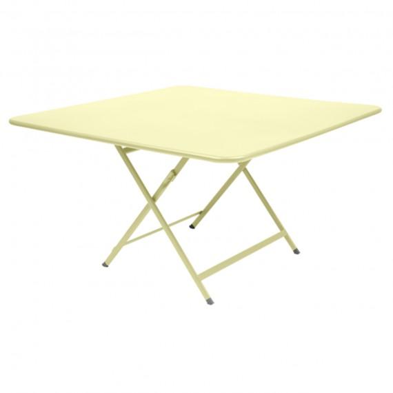 Fermob Table carrée CARACTÈRE - citron givré
