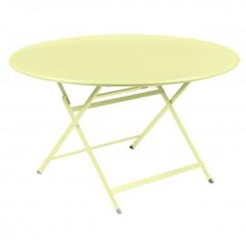 Table ronde CARACTÈRE - citron givré