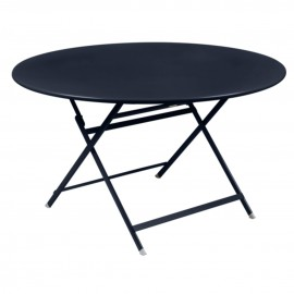 Table ronde CARACTÈRE - bleu abysse