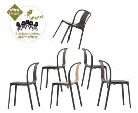 Belleville Chair Wood lot de 6 - 5 achetées la 6 ème offerte -