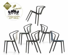 BELLEVILLE ARMCHAIR PLASTIC lot de 6 - 5 achetées la 6ème offerte - Vitra