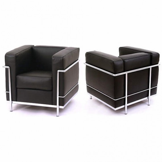 fauteuils lc2 le corbusier cassina. Black Bedroom Furniture Sets. Home Design Ideas