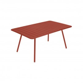 Table rectangulaire LUXEMBOURG - ocre rouge