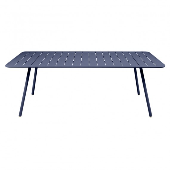 FERMOB Table rectangulaire LUXEMBOURG - bleu abysse