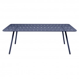 Table 207x100 cm LUXEMBOURG bleu abysse