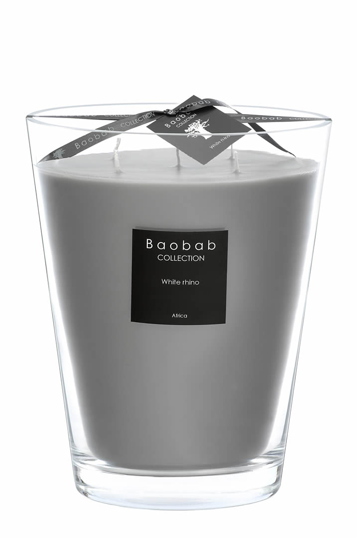 bougie baobab max 24 white rino. Black Bedroom Furniture Sets. Home Design Ideas