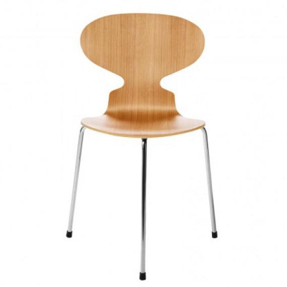 chaise fritz hansen la fourmi 3 pieds en cerisier. Black Bedroom Furniture Sets. Home Design Ideas