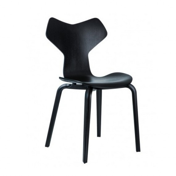 chaises grand prix noir fritz hansen. Black Bedroom Furniture Sets. Home Design Ideas