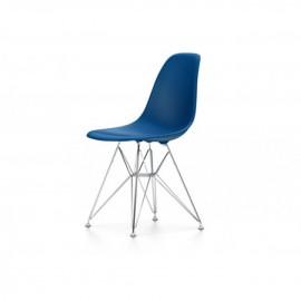 Chaise Eames DSR - bleu de mer pieds chromé