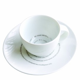 6 Tasses + Soucoupes L'odeur du café