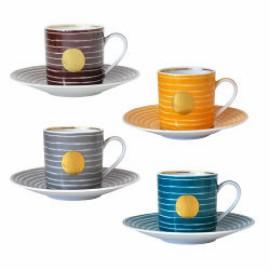 4 Tasses + soucoupes Aboro différentes