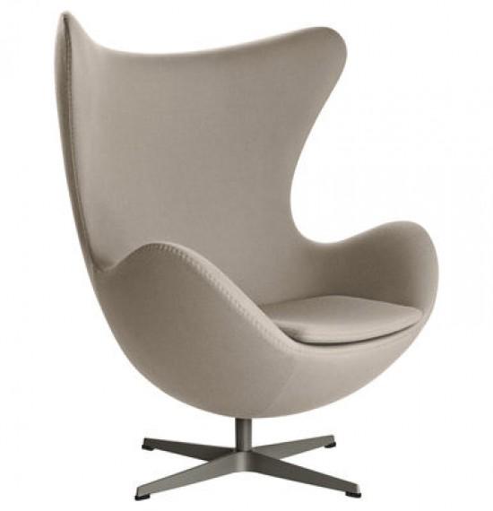 fauteuil fritz hansen egg tissu taupe. Black Bedroom Furniture Sets. Home Design Ideas