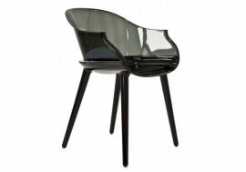 Petit fauteuil transparent CYBORG Noir