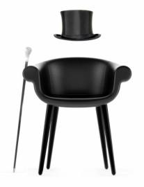 Petit fauteuil en cuir LORD CYBORG