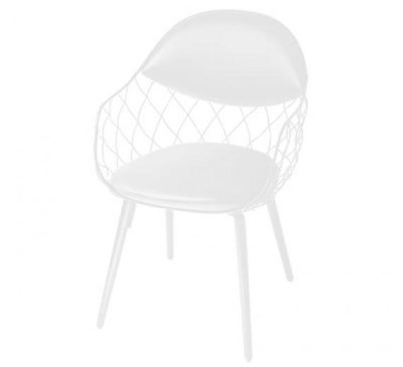 Fauteuils petit fauteuil en cuir pina blanc magis - Petit fauteuil blanc ...