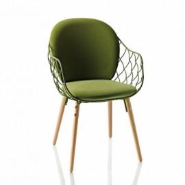 Petit fauteuil en tissu Star PINA Vert