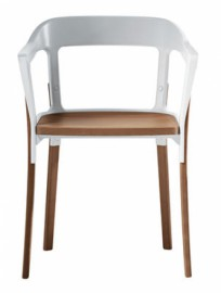 STEELWOOD CHAIR en hetre Blanc