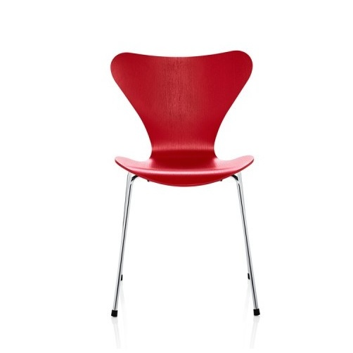 Chaises la serie 7 fr ne color rouge fritz hansen - Evolution de la chaise ...