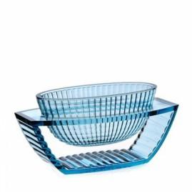 Centre de table transparent U SHINE Bleu