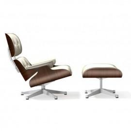 Eames Lounge Chair et Ottoman neige Vitra