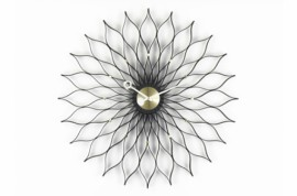 Sunflower WALL CLOCKS Frêne noir Laiton